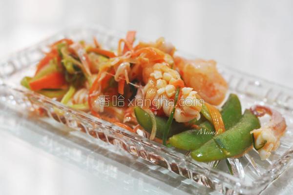 酸辣凉拌海鲜沙拉的做法
