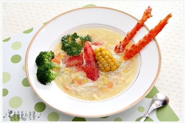 帝王蟹浓汤的做法