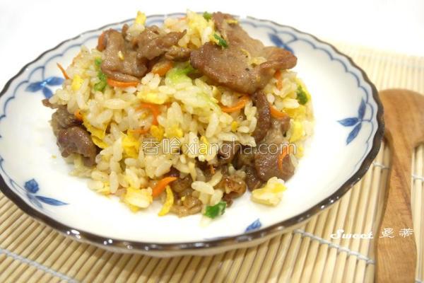 台式烧肉片炒饭的做法
