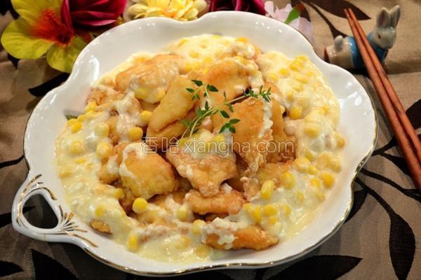 奶油玉米鱼块的做法