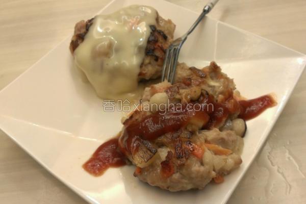 汉堡菇肉排的做法