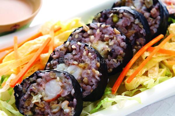 炸虾寿司的做法