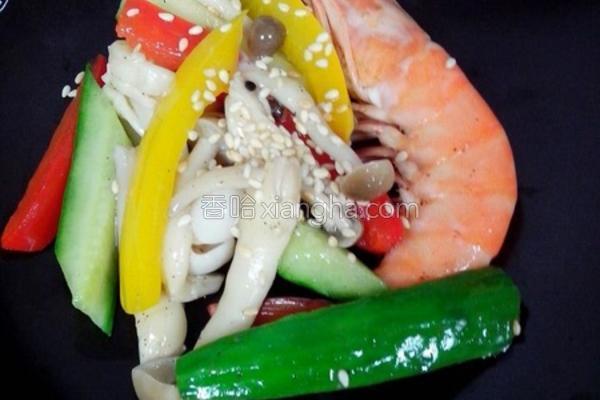 凉拌季节蔬菜的做法