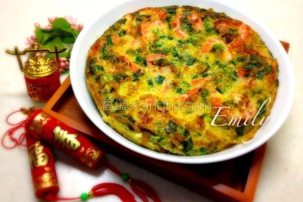 韭菜虾仁煎蛋的做法