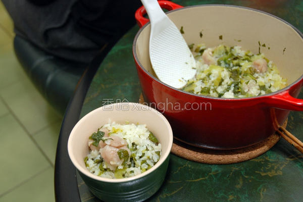 鱼饺菜饭的做法