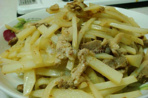 醋熘土豆肉丝的做法