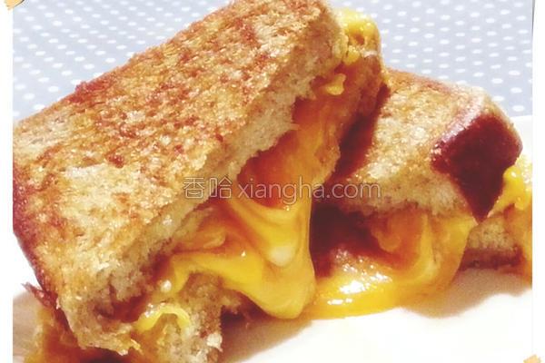 花生起司三明治的做法