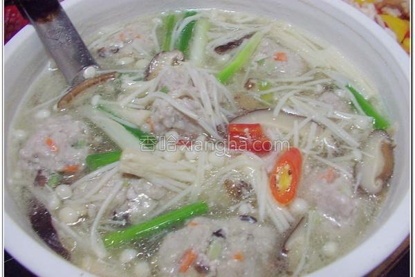 香菇肉羹汤的做法
