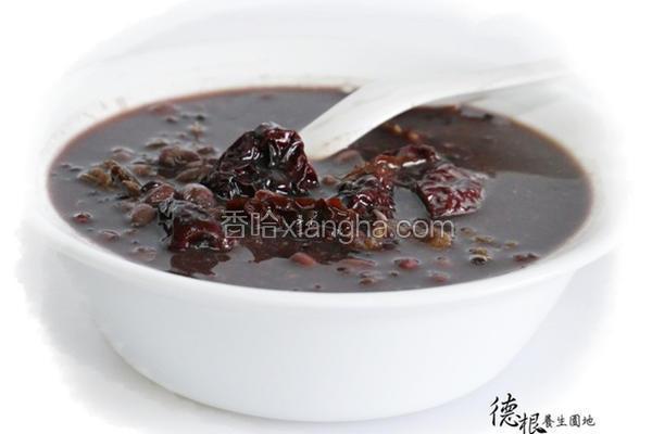 养生红豆紫米粥