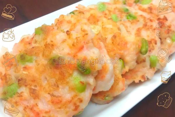 鲜虾薯泥煎饼的做法