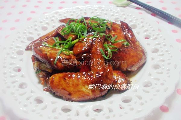 酒香蚝油烧鸡翅的做法