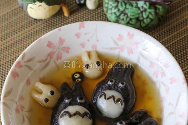 龙猫芝麻汤丸的做法