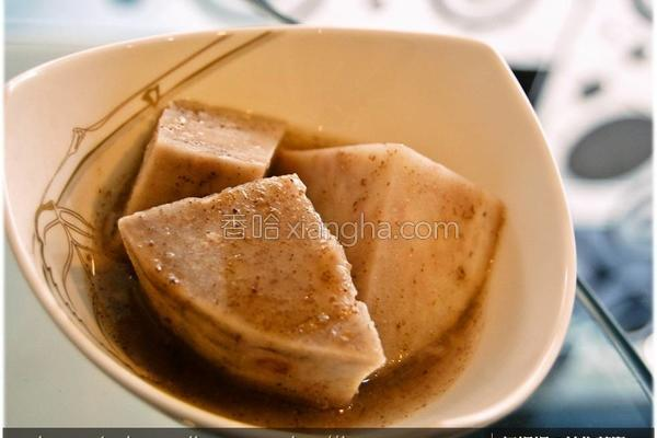 黑木耳芋头甜汤的做法