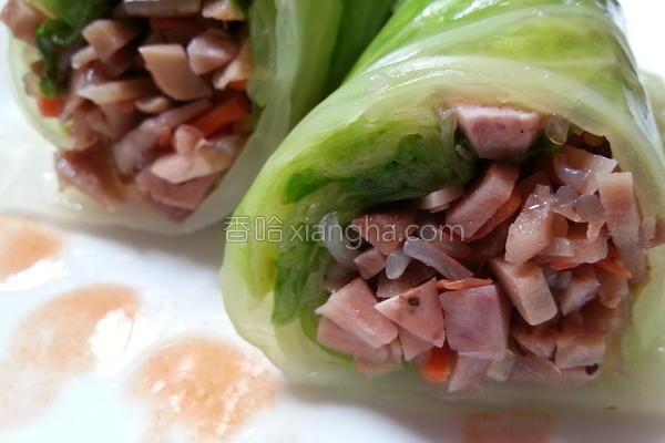 芋丁高丽菜卷的做法