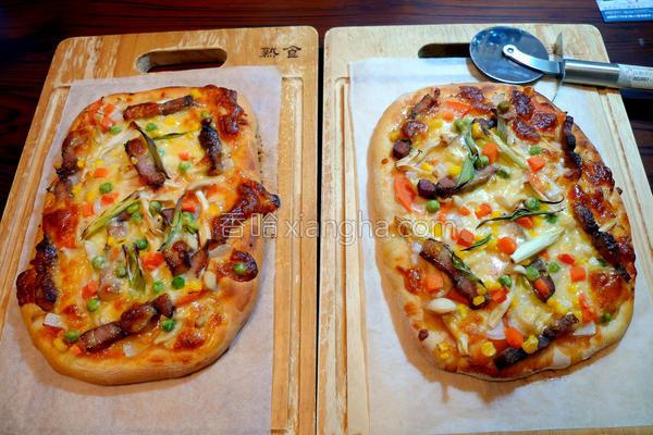 咸猪肉鲜蔬披萨的做法