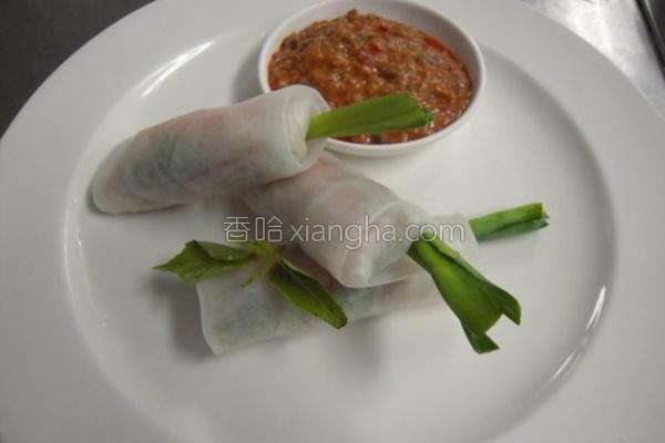 泰式鲜虾卷的做法
