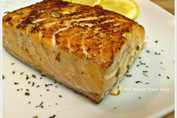 盐烤三文鱼的做法