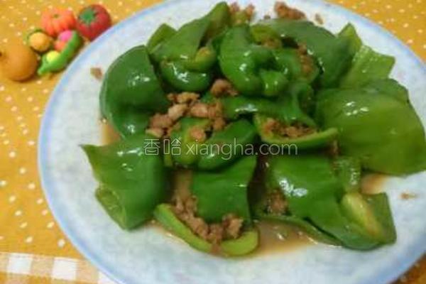 青椒炒肉末的做法