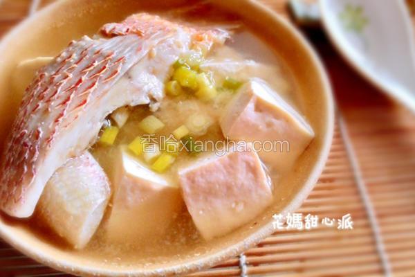 味噌鲜鱼汤
