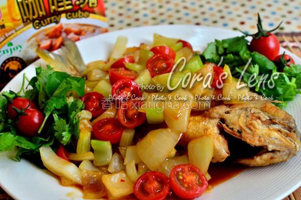 咖哩甜鸡酱红烧鱼的做法
