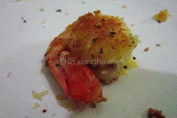 创意椰子虾的做法