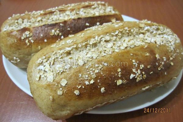 黑糖燕麦面包的做法