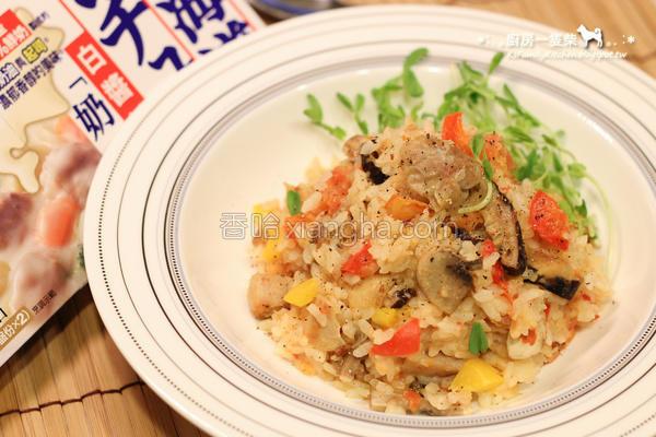 白酱鸡肉炖饭