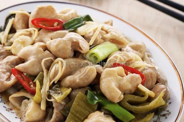 客家菜姜丝炒大肠的做法