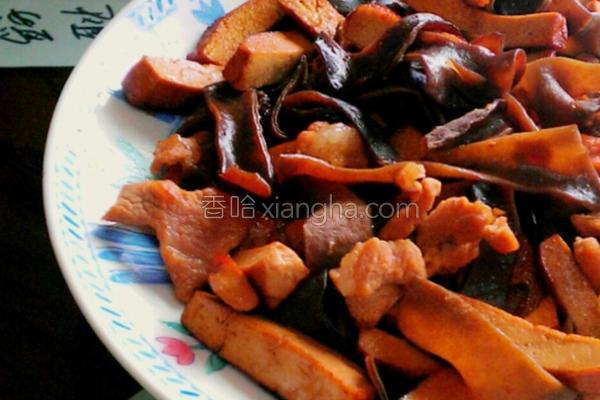 木耳豆干炒肉丝的做法