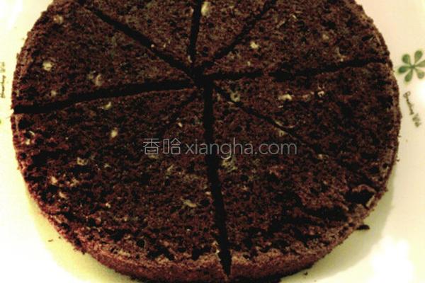 香蕉巧克力蛋糕的做法