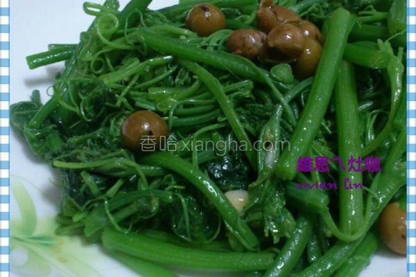 炒龙鬚菜的做法