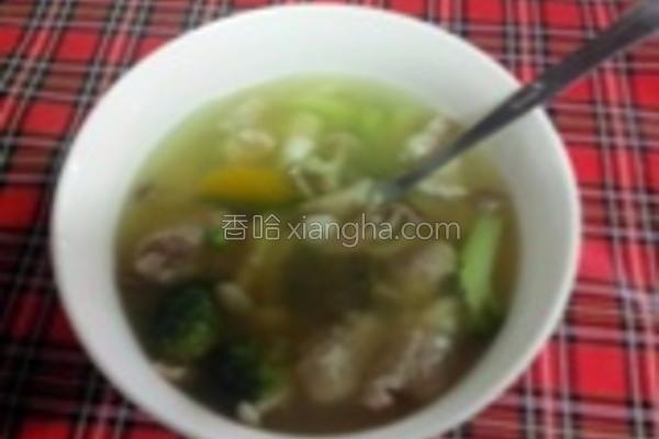 菇菇排骨汤的做法