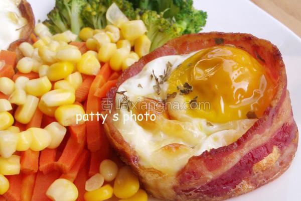 培根蛋堡的做法