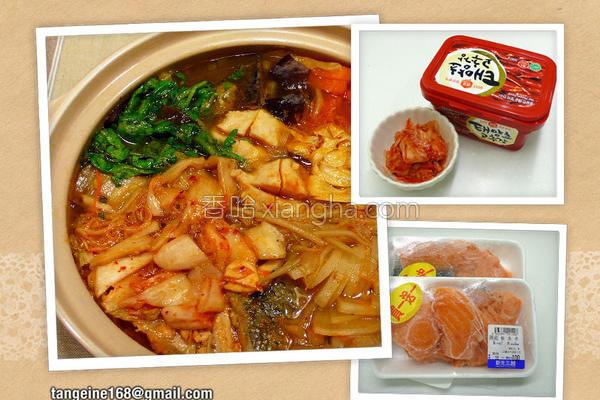 泡菜鱼骨涮涮锅的做法
