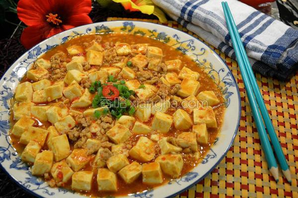 麻婆香辣豆腐的做法
