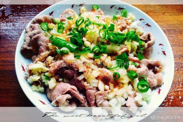 风蒜末白肉的做法