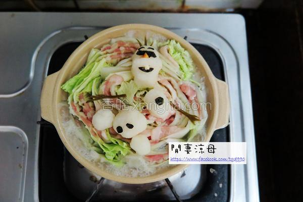 雪宝日式大根火锅的做法