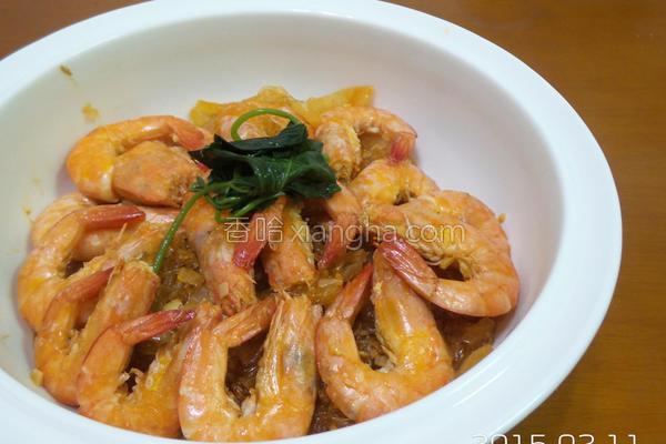 白虾粉丝煲的做法