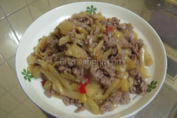 酸菜牛肉的做法