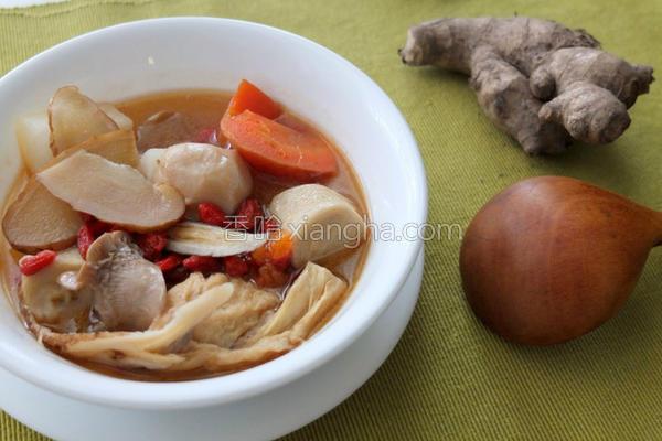 蔬食麻油鸡的做法