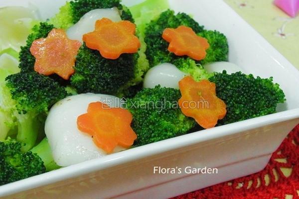 百合炒花椰菜的做法