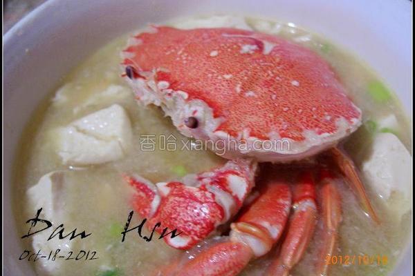 蟹味噌汤的做法