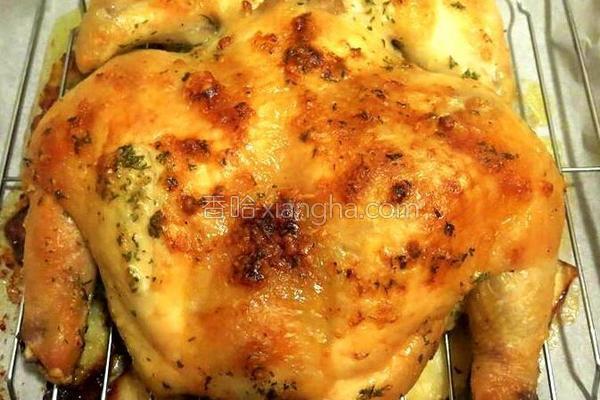 牛油烤鸡的做法