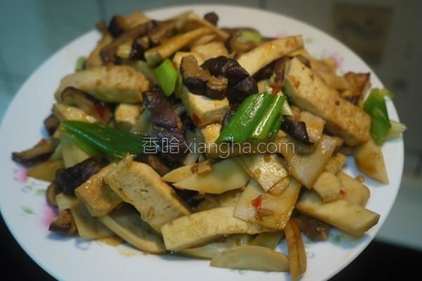 辣炒笋菇干的做法