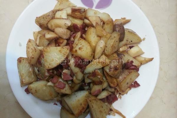 干煎马铃薯磨菇的做法
