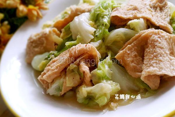 豆皮白菜的做法