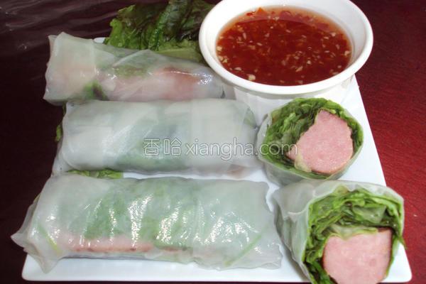 越式猪肉卷的做法