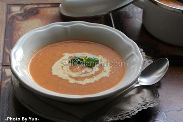 红番茄浓汤的做法