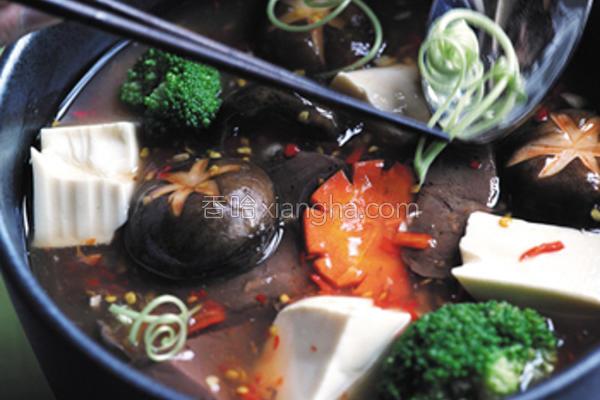 麻辣鸭血豆腐煲的做法