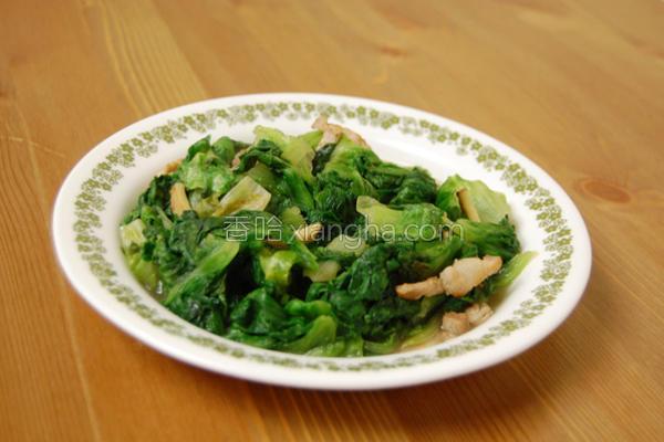 姜炒绿生菜的做法